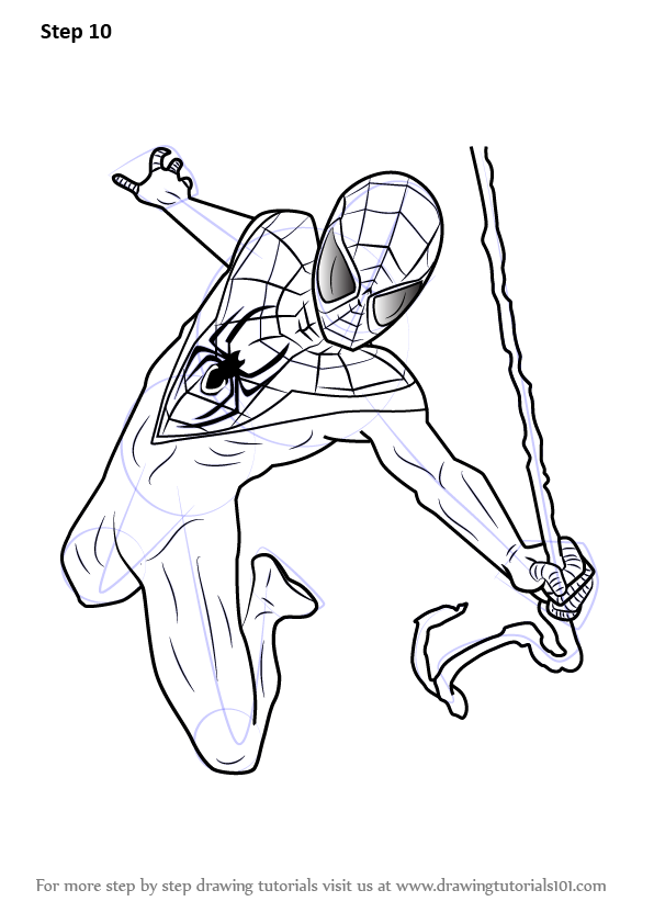 Learn How To Draw Miles Morales From Ultimate Spider Man Ultimate Spider Man Step By Step Drawing Tut Spider Coloring Page Spiderman Coloring Spiderman Art