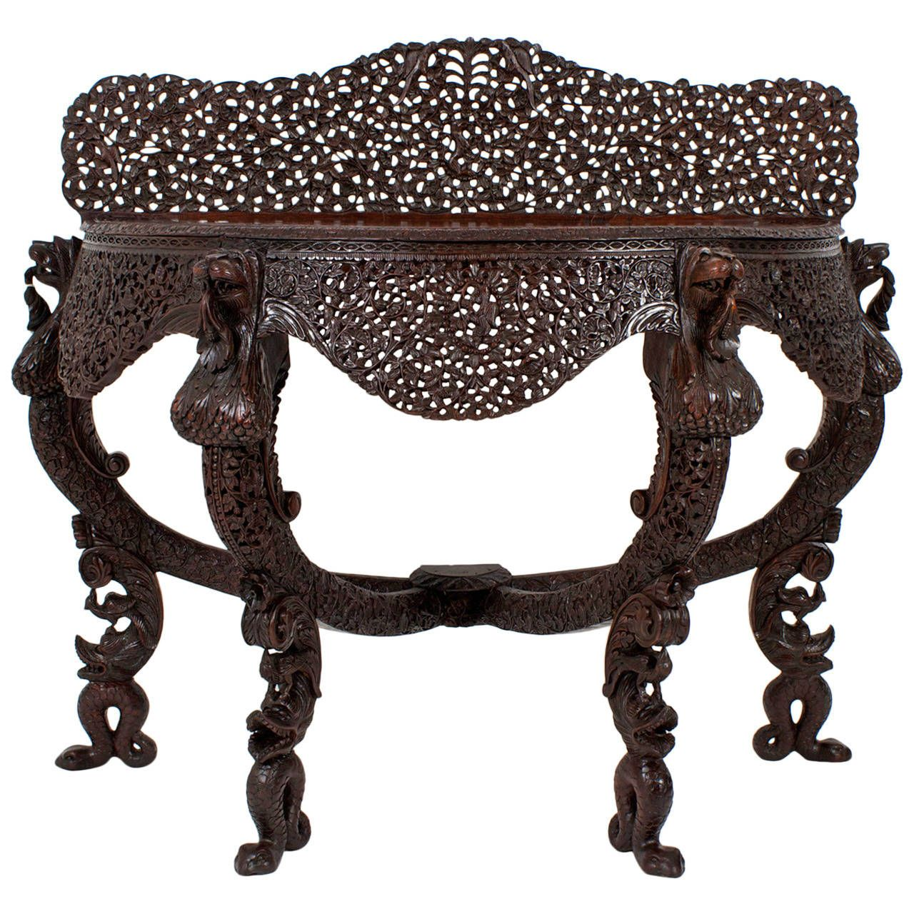19th century anglo indian carved console table console tables 19th century anglo indian carved console table from a unique collection of antique and modern geotapseo Gallery