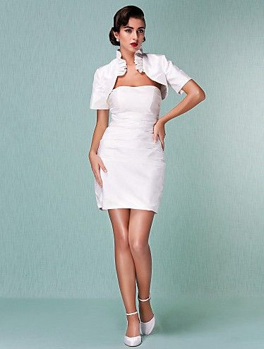Discount Beach Sweetheart Short / Mini T-shirt Taffeta Wedding Dress ...