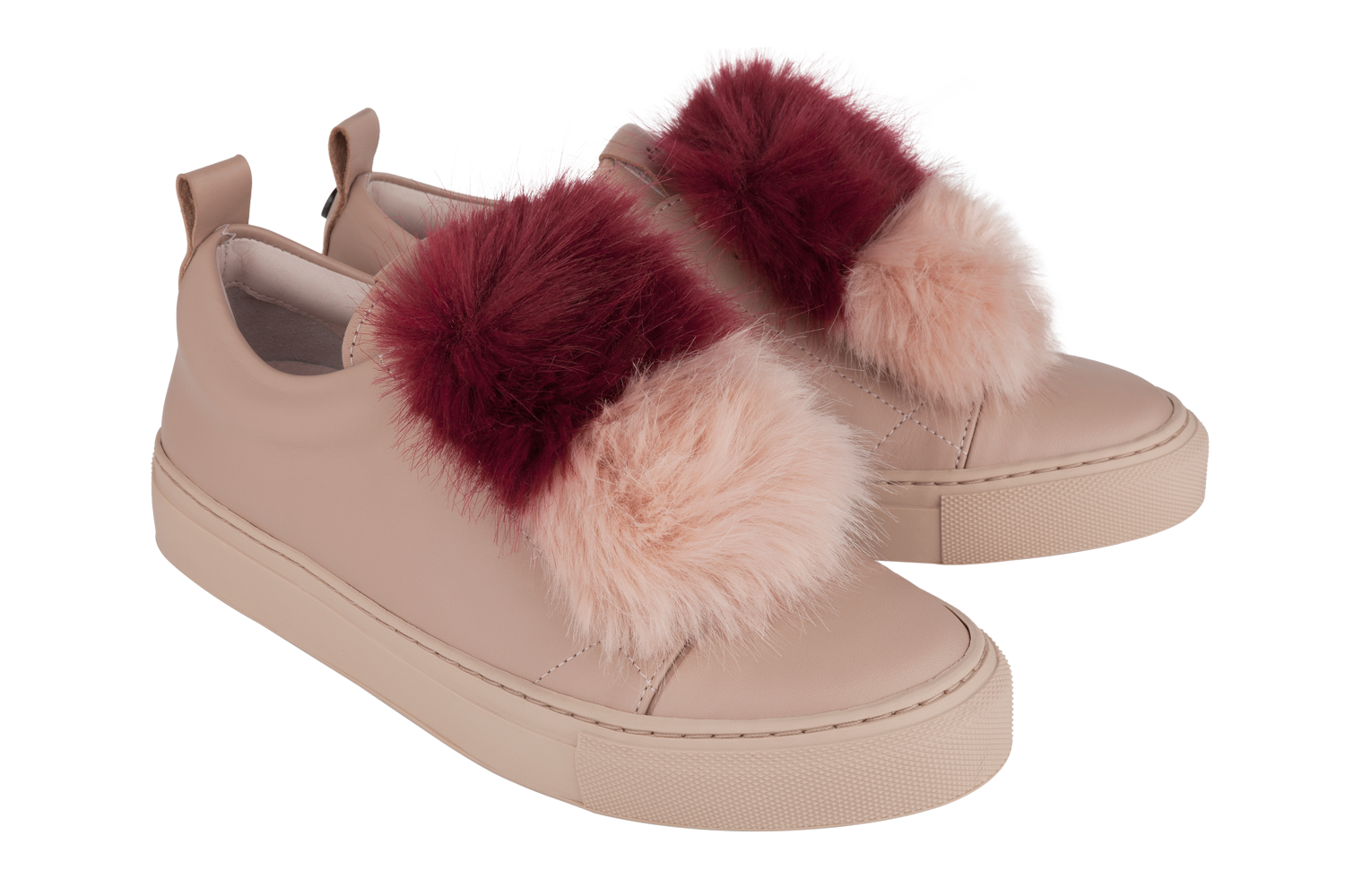Josefinas Louise Pink Bow Fur Edition, special pairs of sneakers for moms and daughters. #JosefinasPortugal
