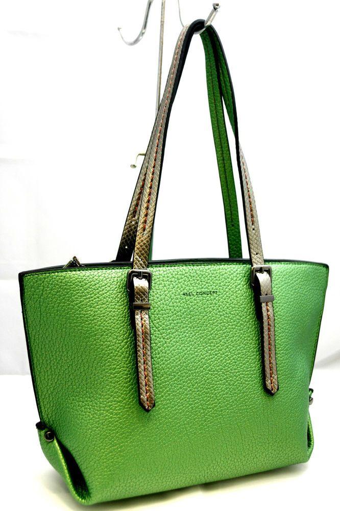 Borsa Donna shopping Axel Concept bag ladies Art 1325 verde spalline double  face 222417dee92