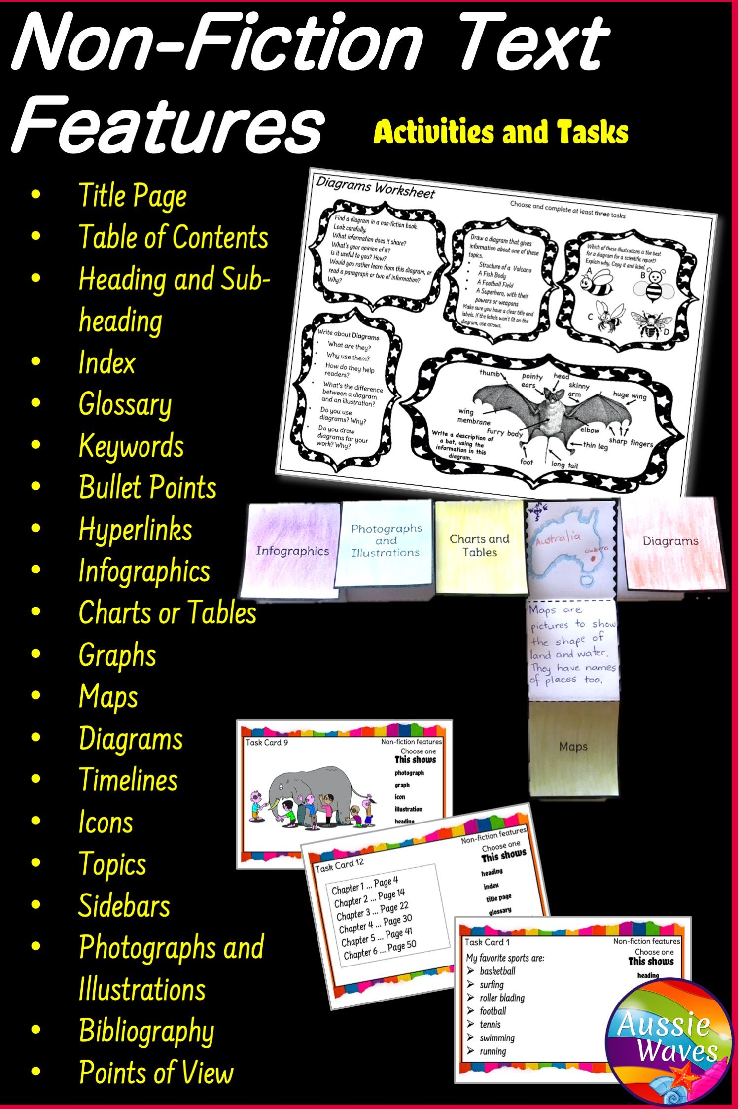 Non Fiction Text Features Printable Activities