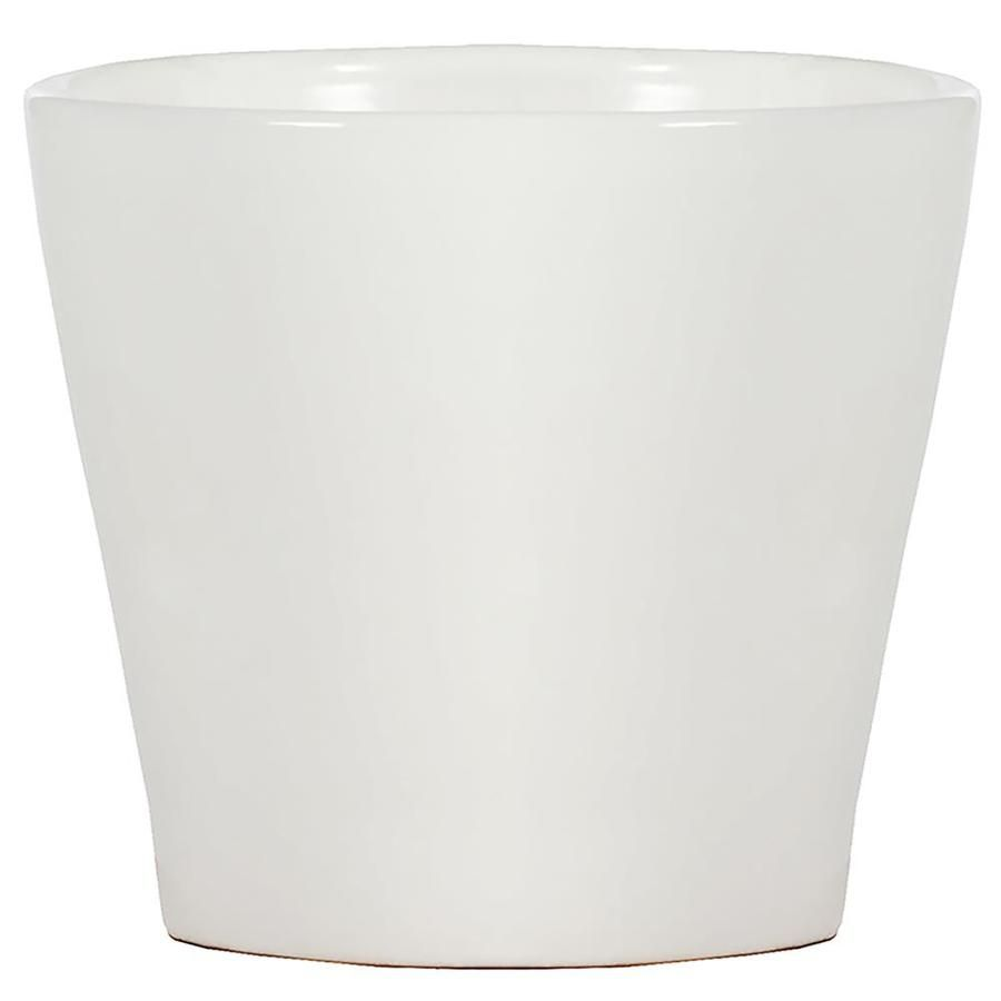 11 5 In W X 10 5 In H White Ceramic Planter At Lowes Com White Ceramic Planter Ceramic Planters White Ceramics