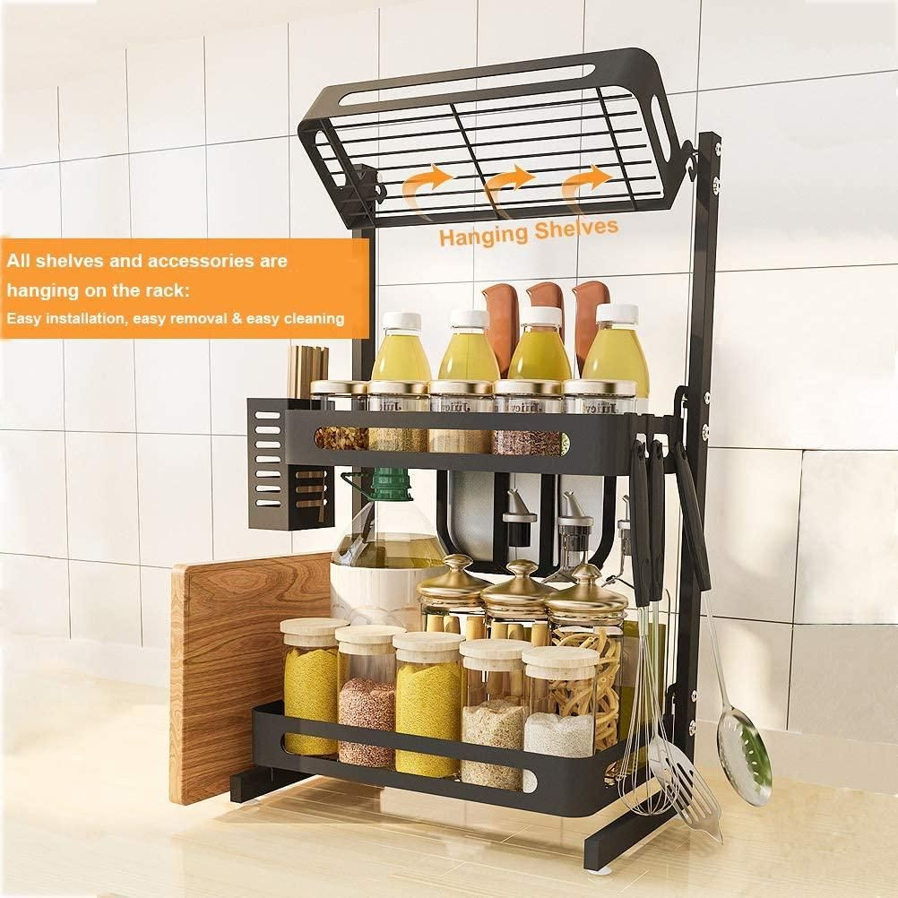 Kitchen Countertop Stainless Steel Spice Rack Set 2 Tier 3 Tier Stainless Steel Spice Rack Steel Kitchen Cabinets Countertop Spice Rack