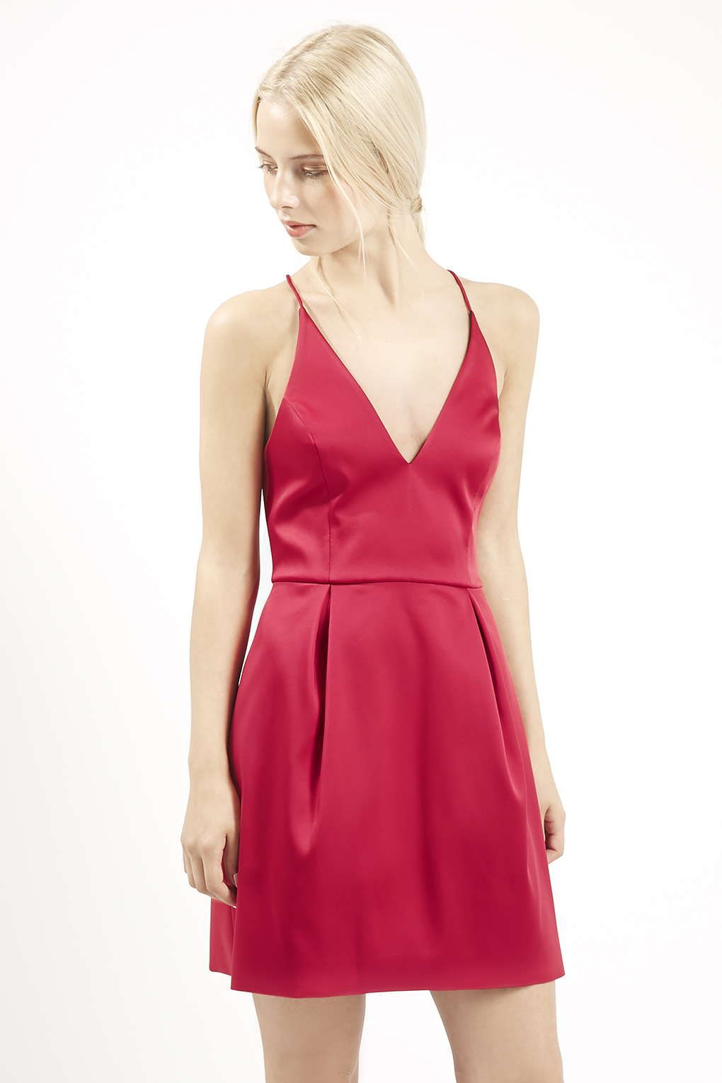 Plunge Neck Satin Dress Satin Dresses Topshop And Satin