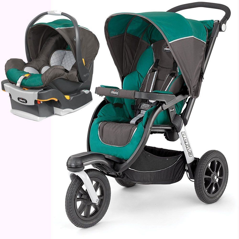 Chicco Activ3 Jogging Stroller with KeyFit 30 Infant Car