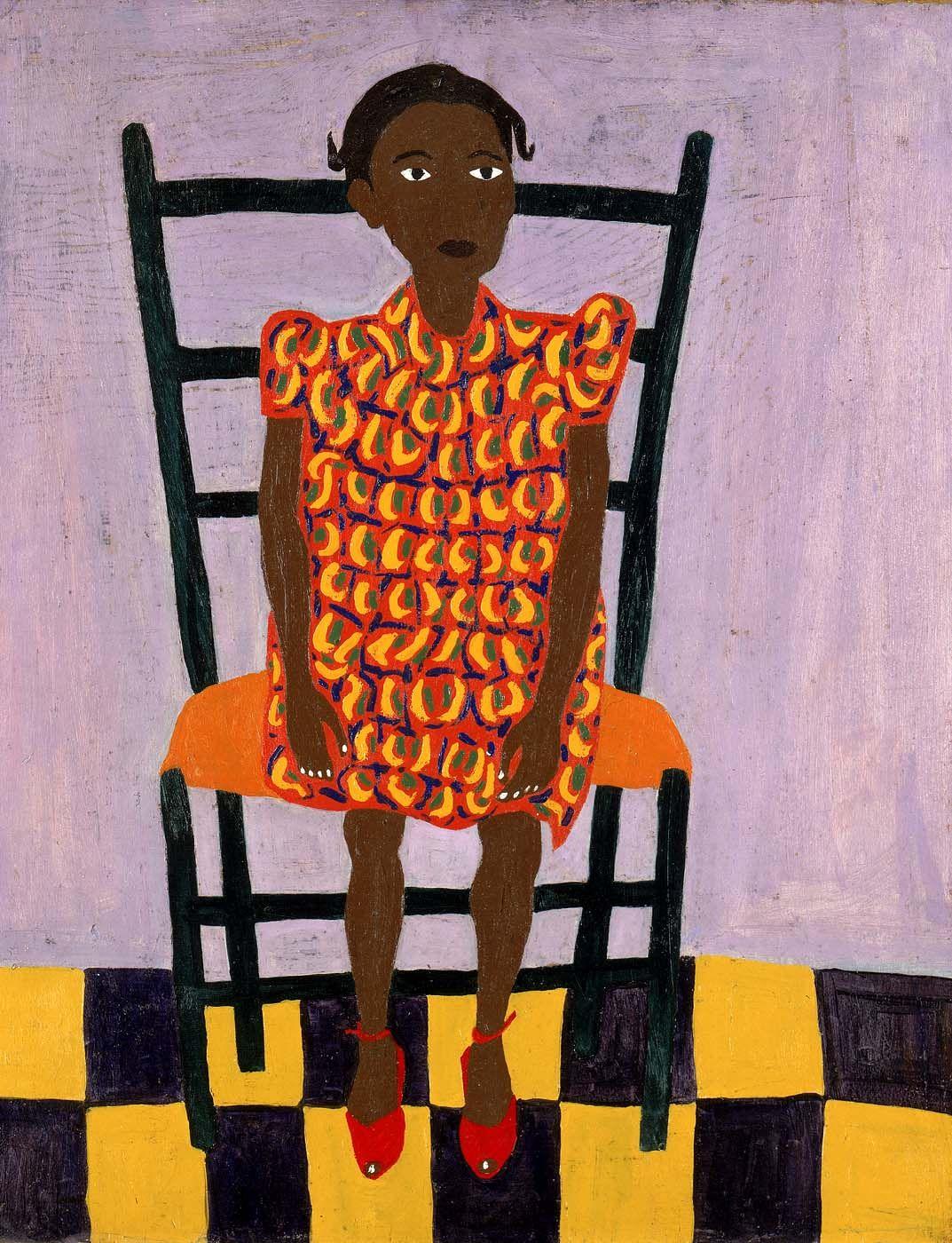 Little girl in orange william h johnson 1944