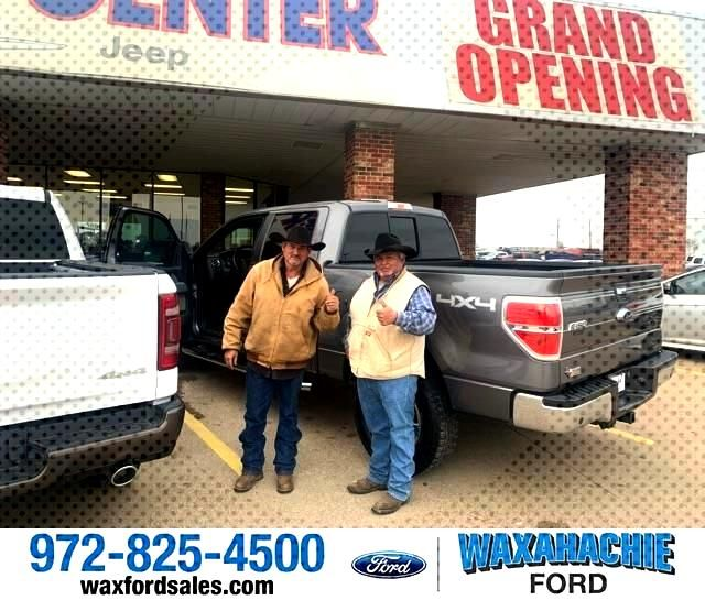 Congratulations Reynaldo on your from Aaron Socolof at Waxahachie Ford!