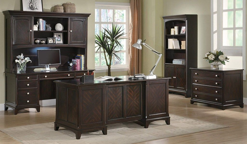 executive home office desk - filing cabinets - affordable home
