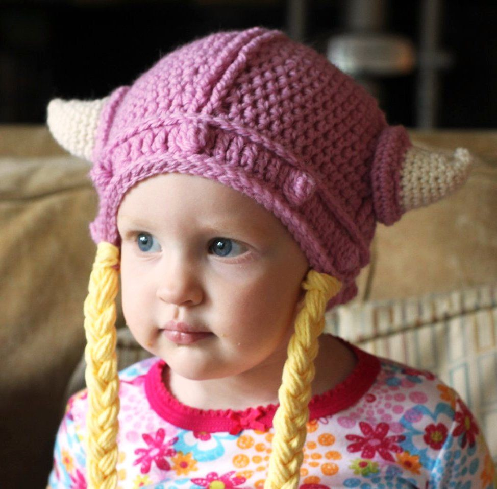a034ba7c3 Girl Viking Hat with Braids   { Weaving / Crochet / Knit / Spin ...