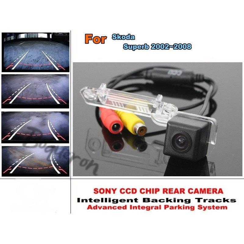 54.20$  Watch here  - For Skoda Superb 2002~2008 Smart Tracks Chip Camera / HD CCD Intelligent Dynamic Parking Car Rear View Camera