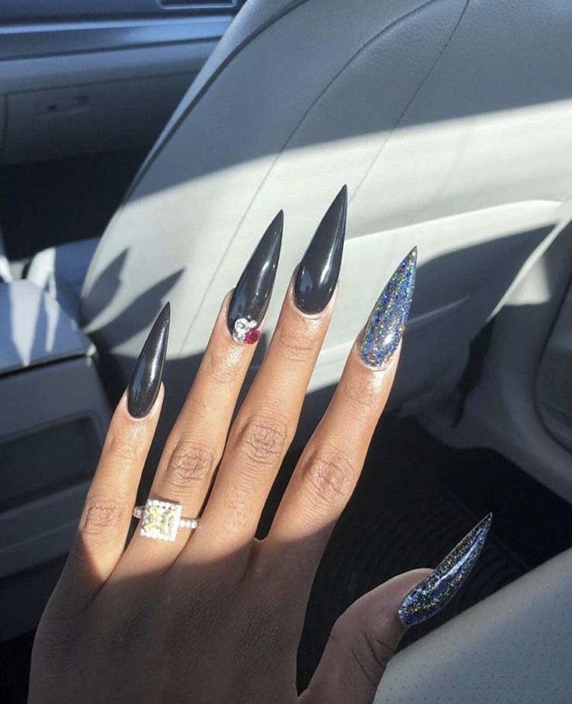 Stiletto nails by EboniBaby💕 on Nail Designsss   Stiletto