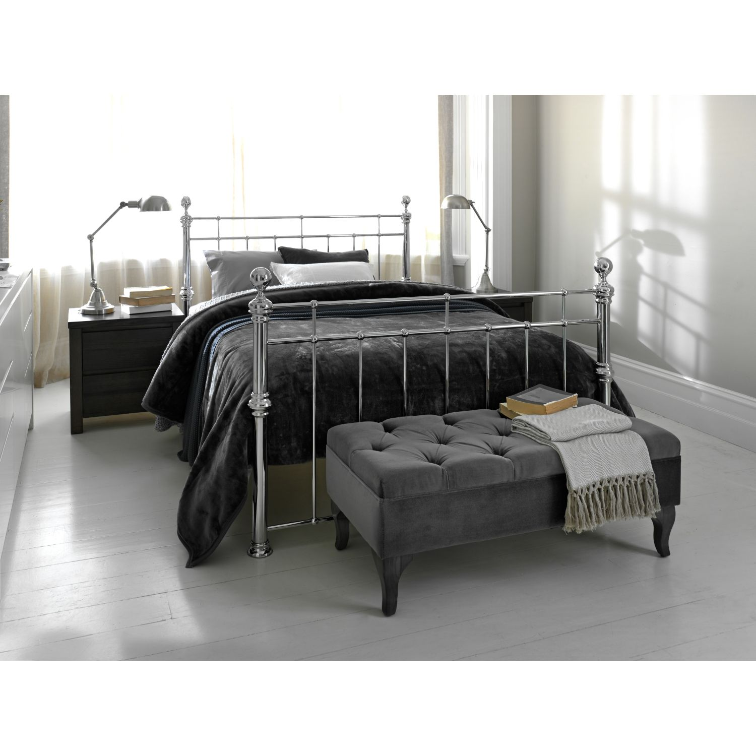 Waldorf Bed Frame | Domayne Online Store | Ticked | Pinterest | Bed ...