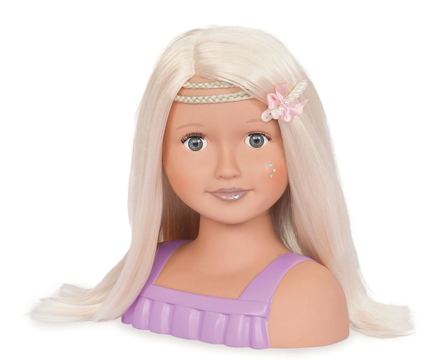 meet trista! trista is our generation's hair play doll head