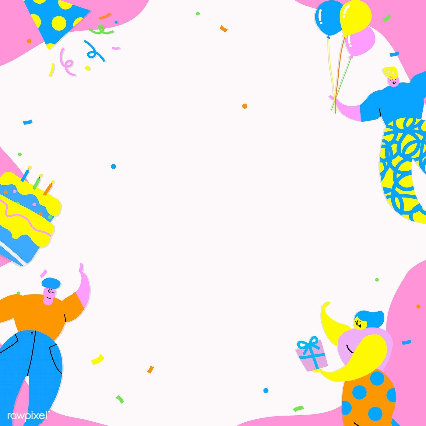 People Celebrating A Birthday Party Background Vector Free Image By Rawpixel Com Nunny Watercolor Pattern Background Birthday Party Background Vector Free