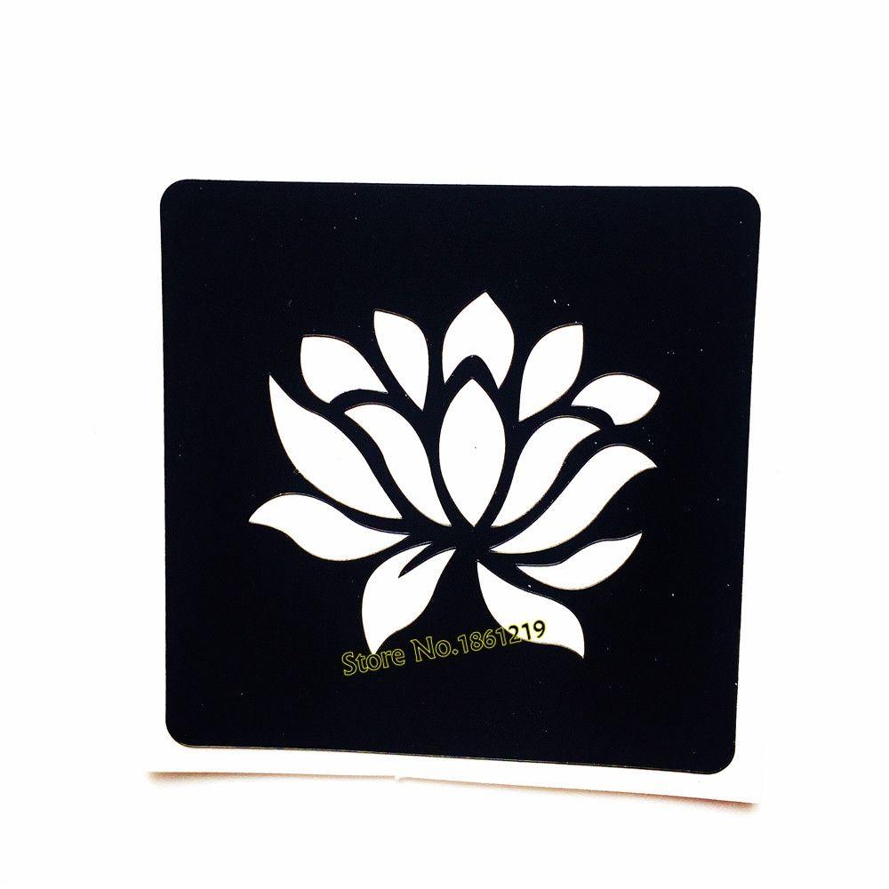 Beauty Body Art Lotus Flower Henna Tattoo Stencils Women Makeup Tips ...