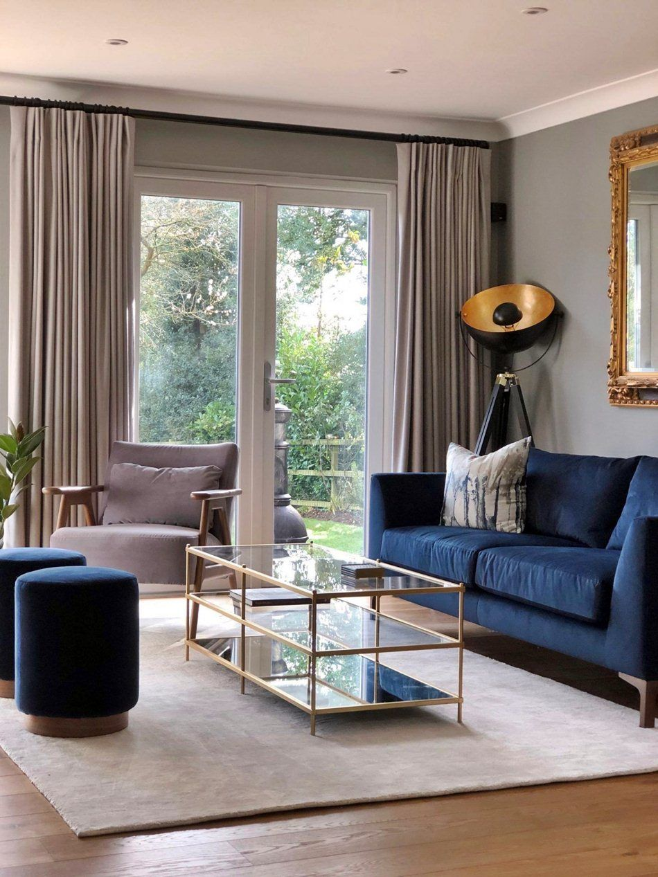 7 Modern And Beautiful Curtain Ideas For Your Living Room Dream House Blue Sofas Living Room Curtains Living Room Lounge Curtains