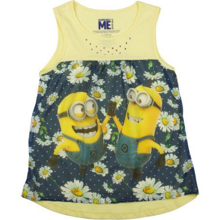 Despicable Me Girls Sublimated Tnk, Size: 4/5, Yellow
