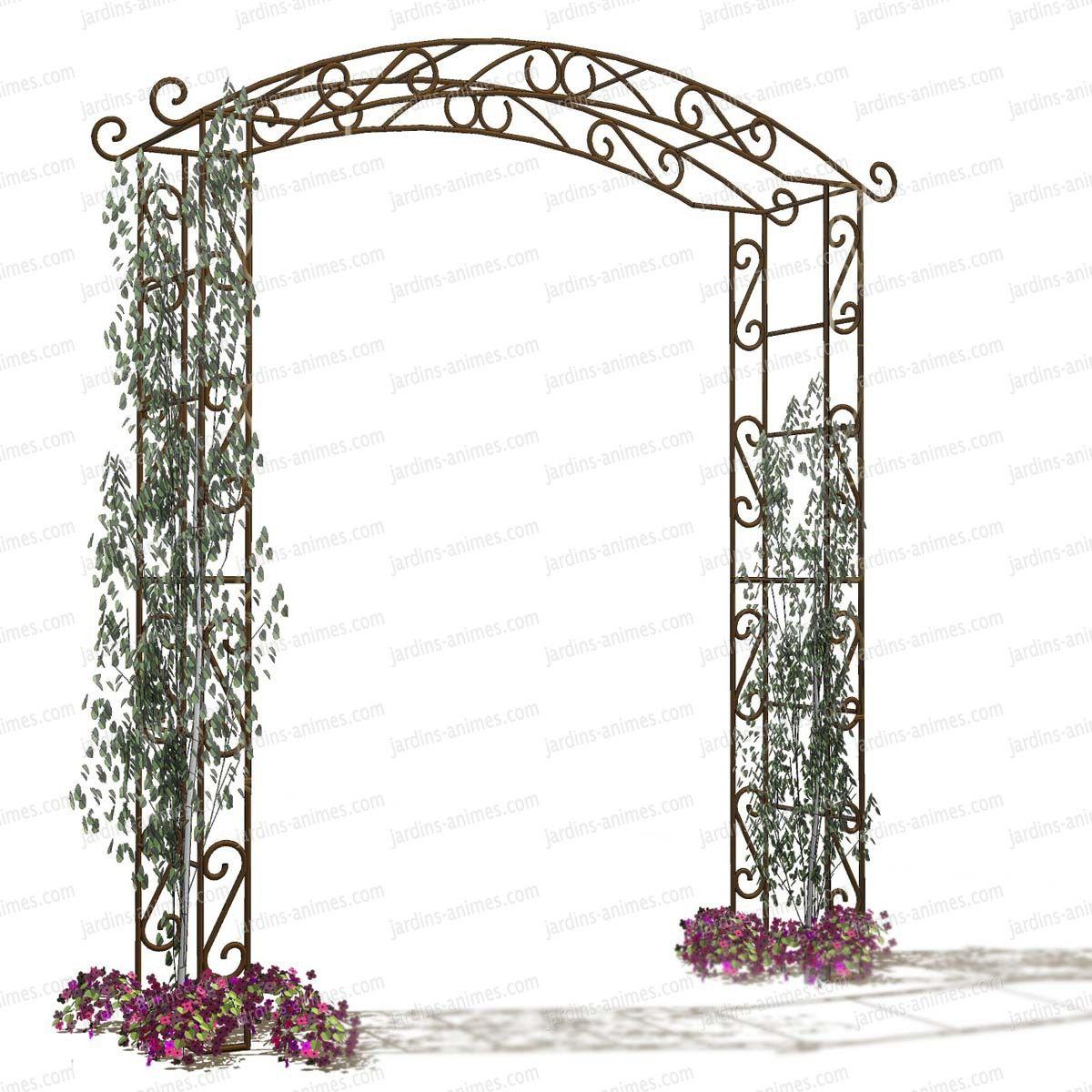 Arche de jardin Pagode | Arches de jardin, Kiosque et Marquise