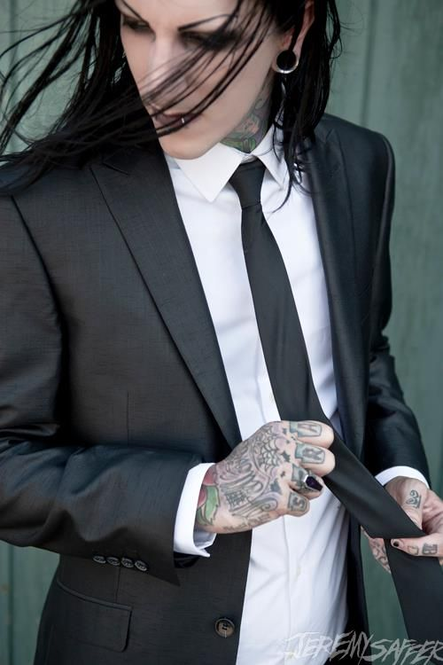 i love men in suits. especially tattooed men...