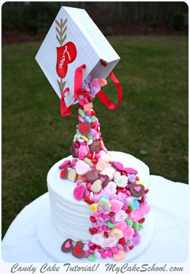 gravity defying candy cake video for members mycakeschool com online cake decorating videos tutorials recipes