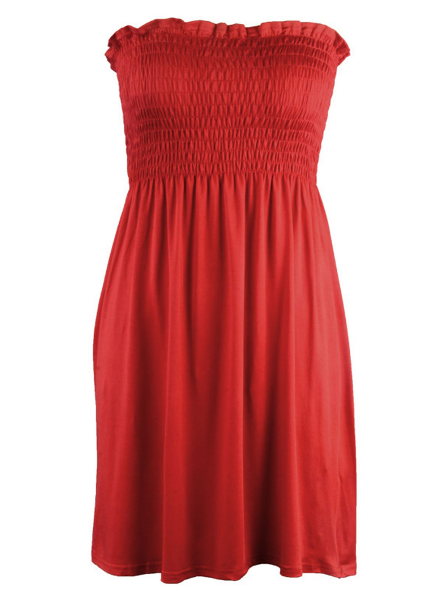New Women printed Strapless Sheering Bandeau Shirred Summer Mini Dress Top