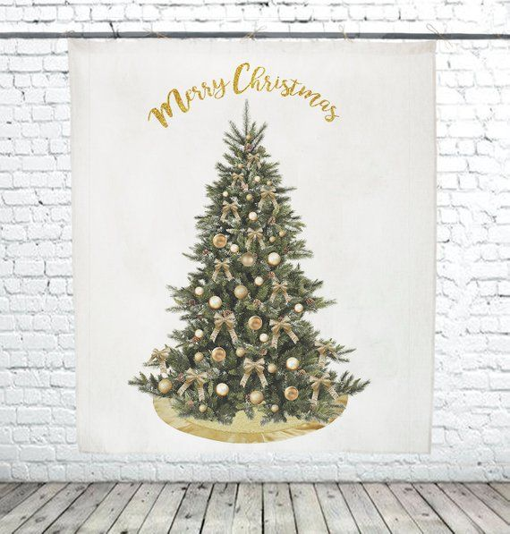 Tapestry Merry Christmas tree decor wall tapestry wall Christmas