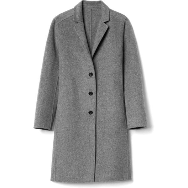 Gap Women Double Face Car Coat found on Polyvore featuring ...