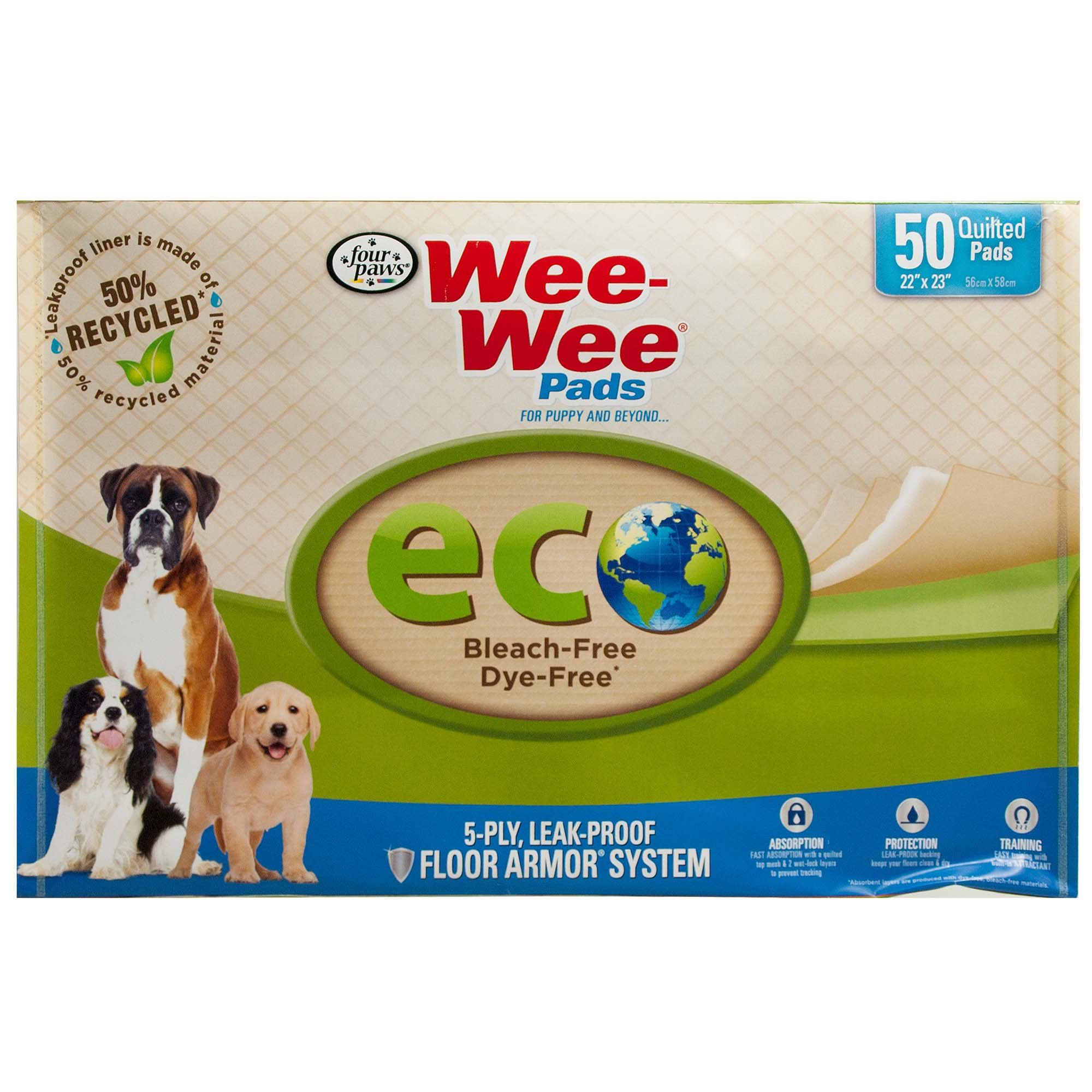 Wee Wee Eco Pads For Dogs Count Of 50 50 Ct In 2020 Puppy Pads