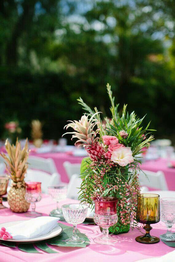 e410ba5e629 Aloha themed bridal shower includes Pineapples and Palms!