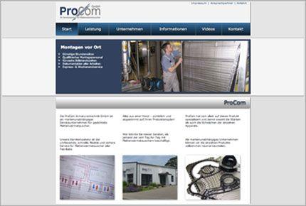 Webdesign & SEO für die ProCom Armaturentechnik GmbH. http://www.procom-pwt.de