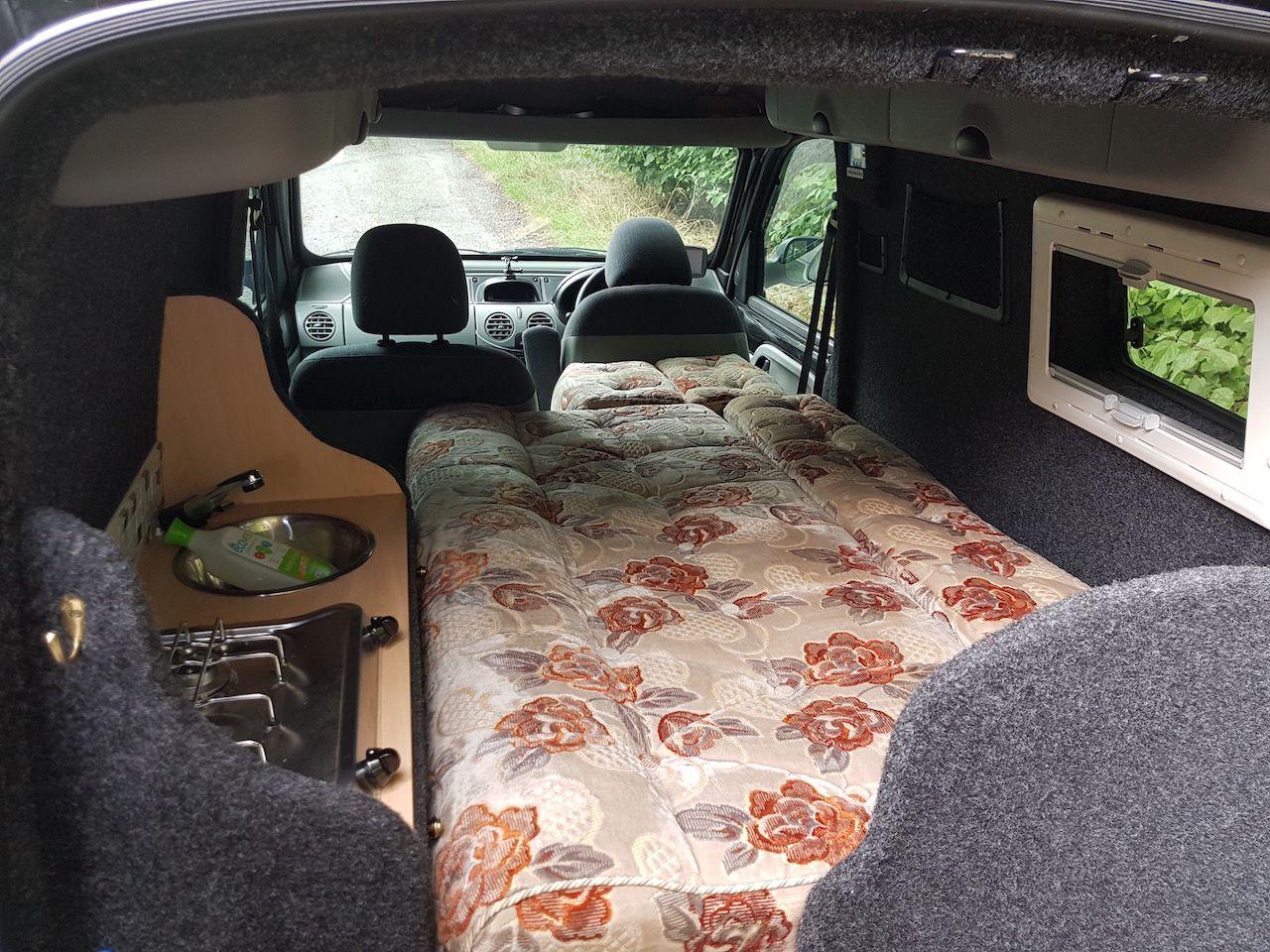 Renault Kangoo Micro Camper Travel Van Self Converted As An Economical And Practical Camper For Travel Micro Camper Ford Transit Connect Camper Renault Kangoo