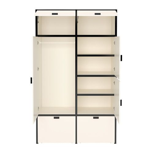 odda wardrobe ikea the casters make the bottom drawers. Black Bedroom Furniture Sets. Home Design Ideas