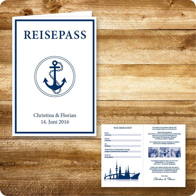 einladungskarte maritim, hamburg, einladung für hochzeit, Einladungsentwurf