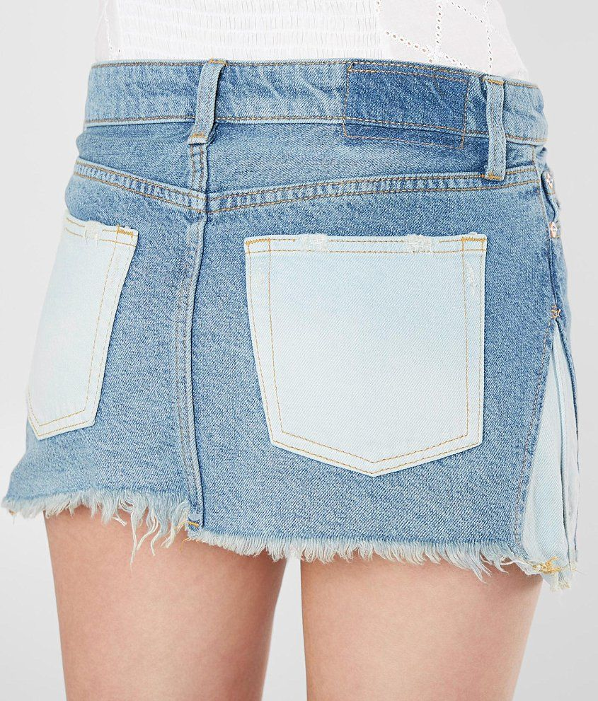 ffd5c26d6991e Free People Patched Denim Skirt - Women's Skirts in Blue   Buckle ...