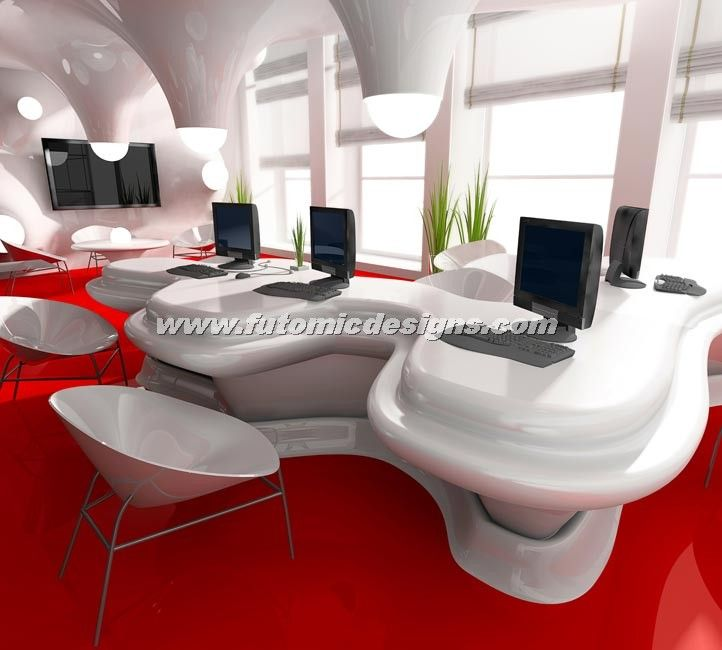 see amazing designed office workstation by futomic designs for