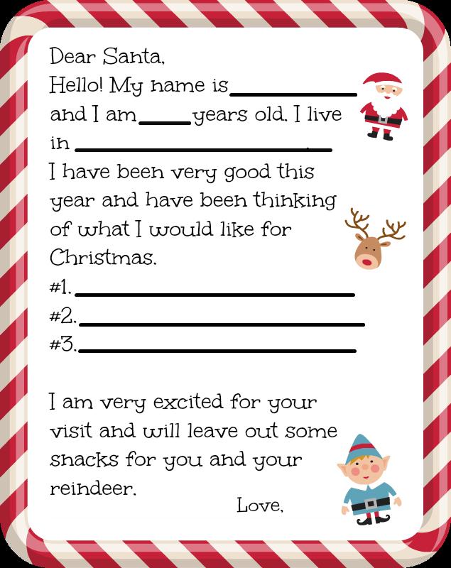 Free Dear Santa Letter Printable  Santa Dear Santa And Free