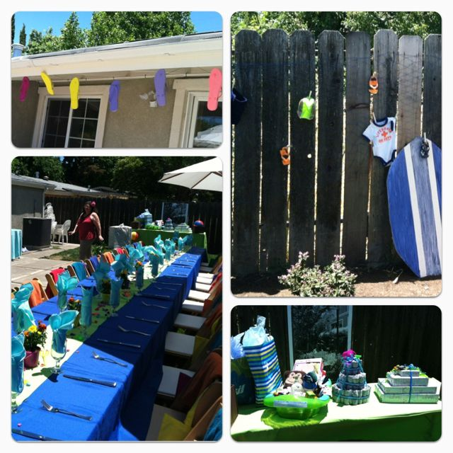 Beach party baby shower!