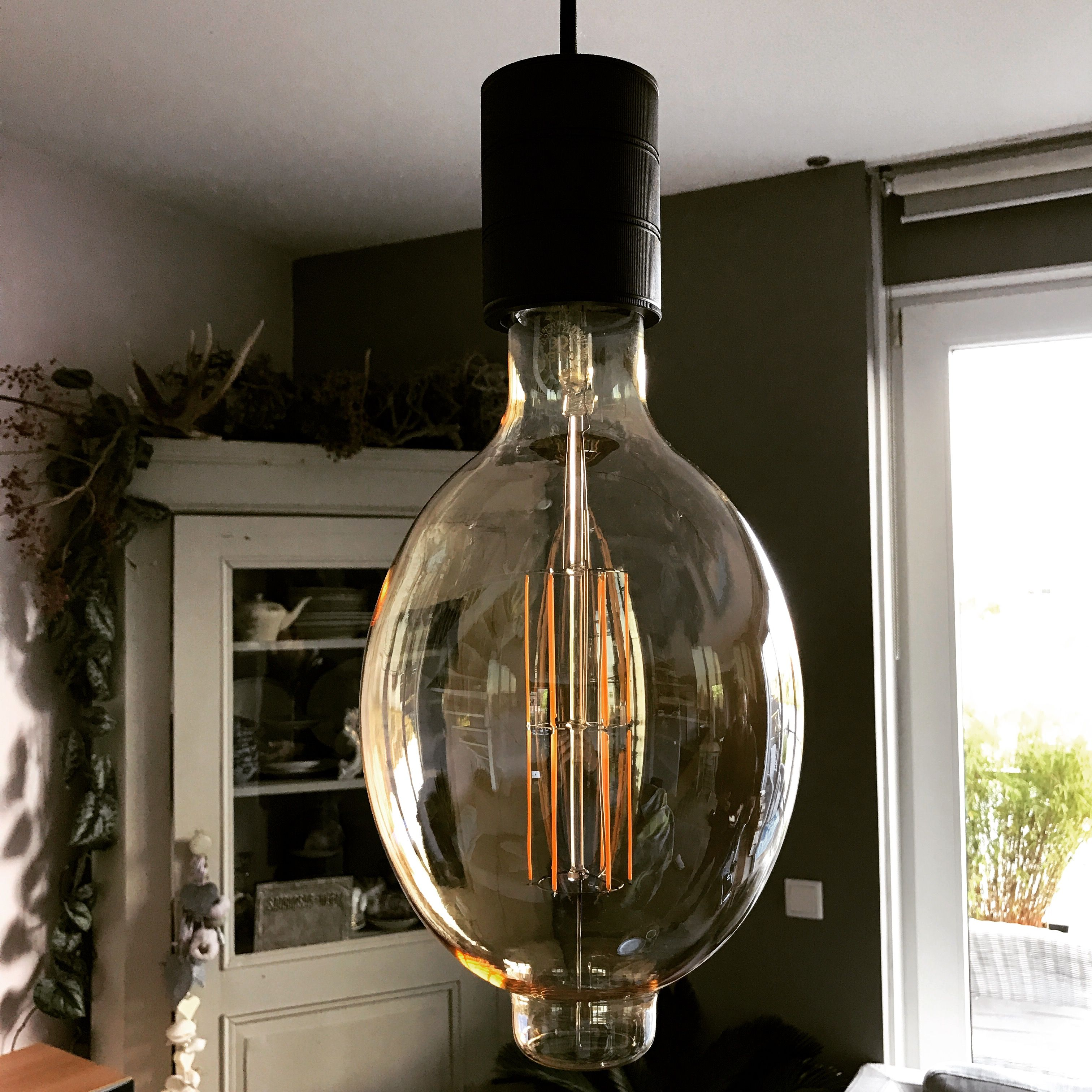 Calex Giant Xxl Colosseum In Combinatie Met E40 Industrial Black Snoerpendel Led Lampe Led Lampen
