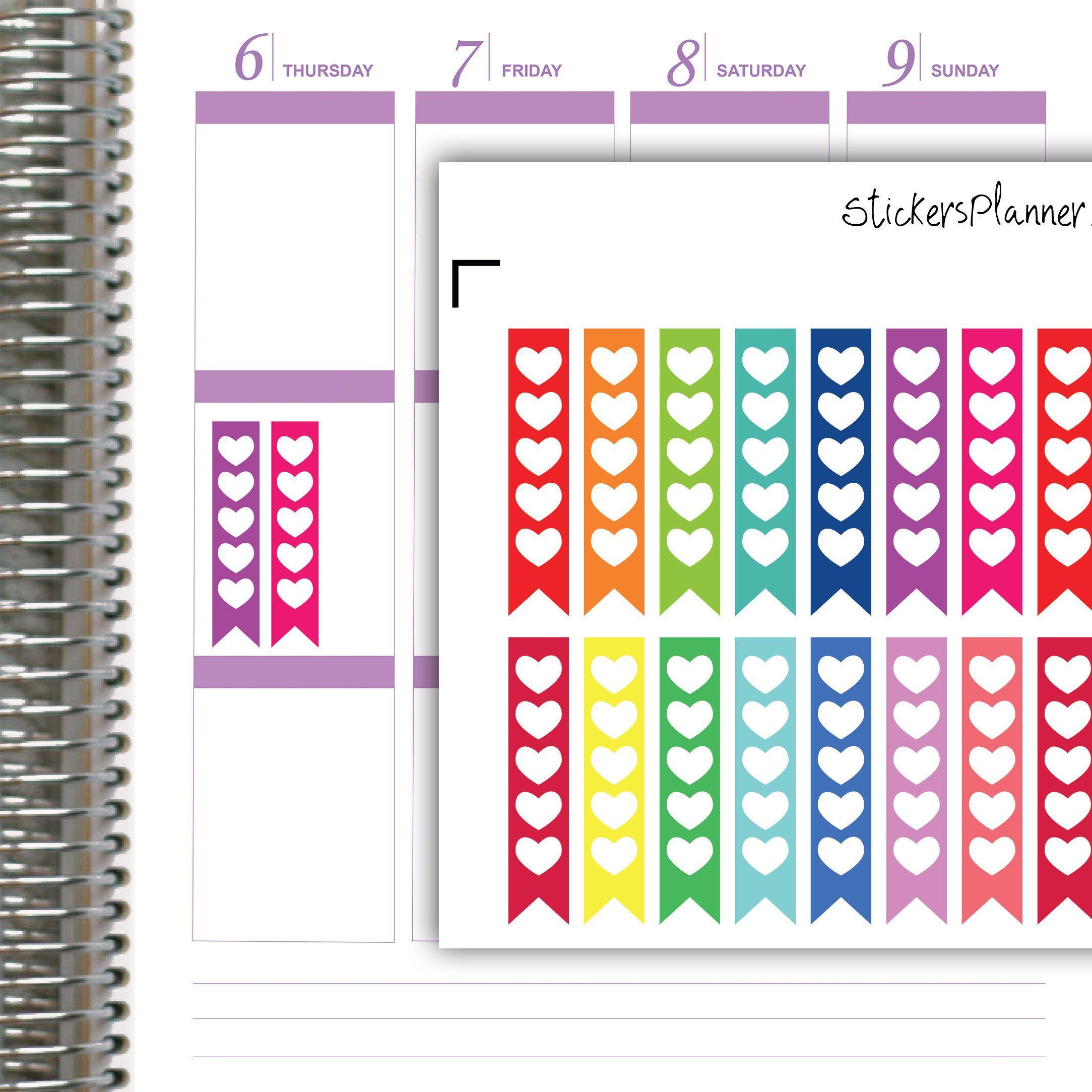 Rainbow Checklist Planner Stickers//Erin Condren Stickers