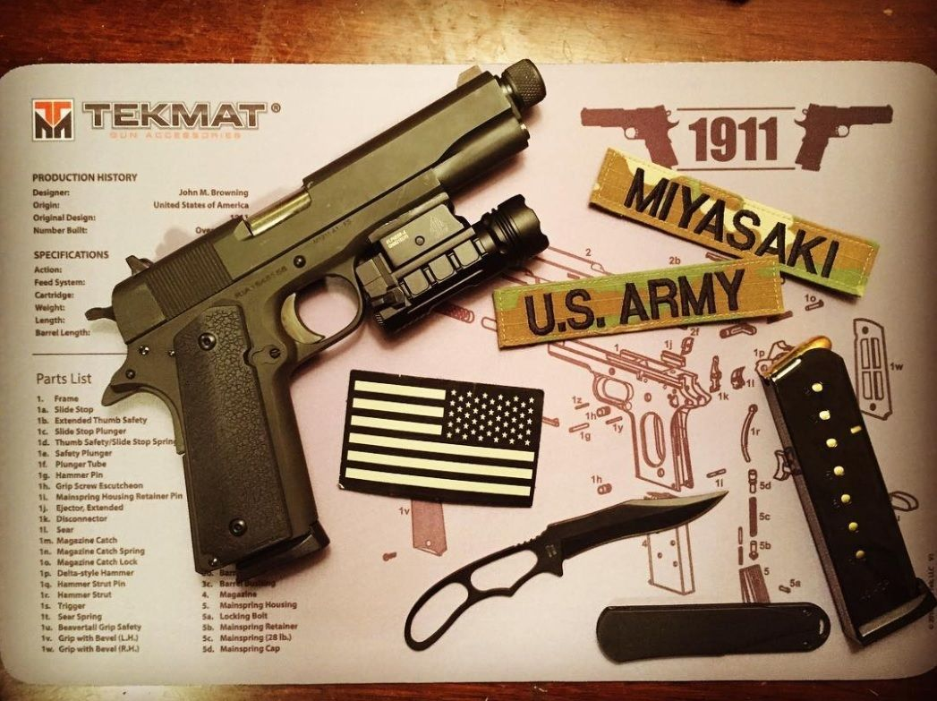 Waterproof//Handgun Cleaning Mat with Parts Diagram and Instructions//Armorers Bench Mat//Black Durable TekMat Ruger SR22 Cleaning Mat 11 x 17 Thick
