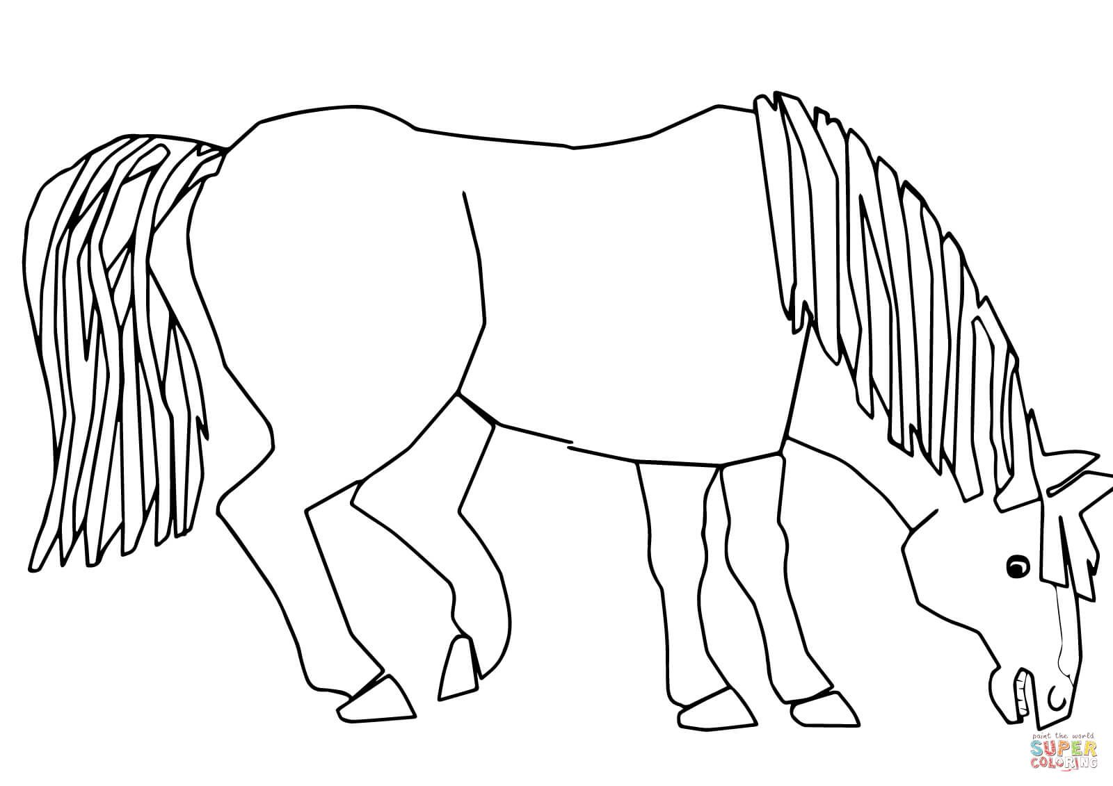 Blue Horse Blue Horse What do You See coloring page from Brown bear ...