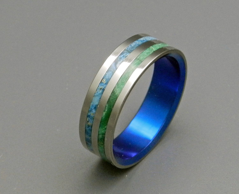 Wedding rings titanium rings wood rings mens rings Etsy