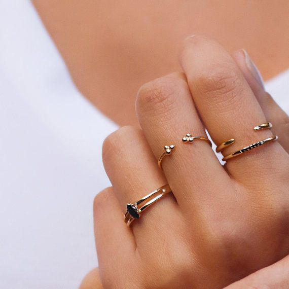 Gold Filled Ring V Shape Curved CZ Diamond Ring Trendy Geometric Ring Wedding Ring Delicate Ring Gift for her Band Ring Stacking Ring