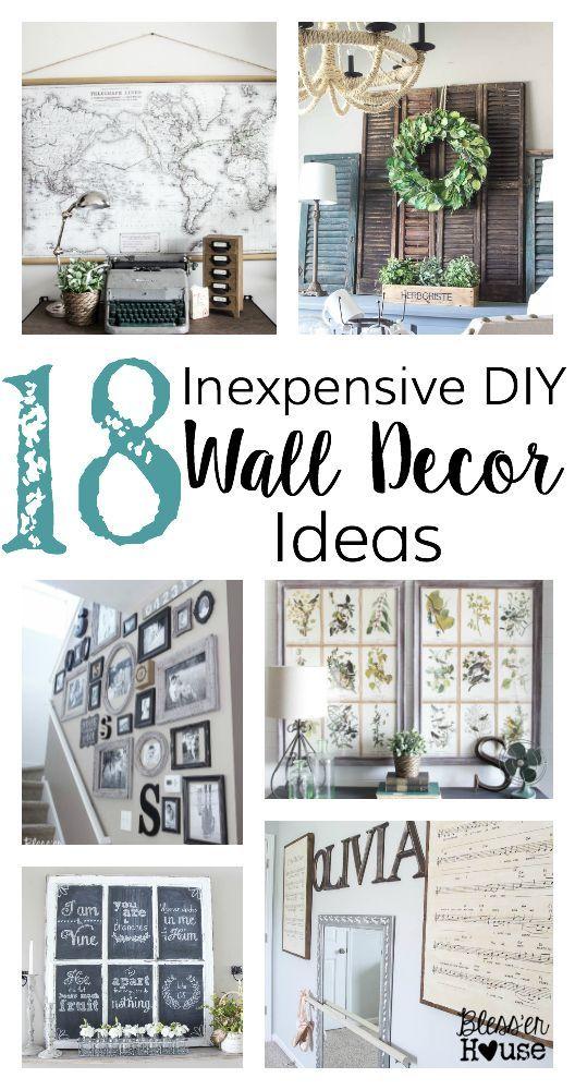 18 Inexpensive DIY Wall Decor Ideas Wohnideen, Wohnzimmer und - wohnideen wohnzimmer diy