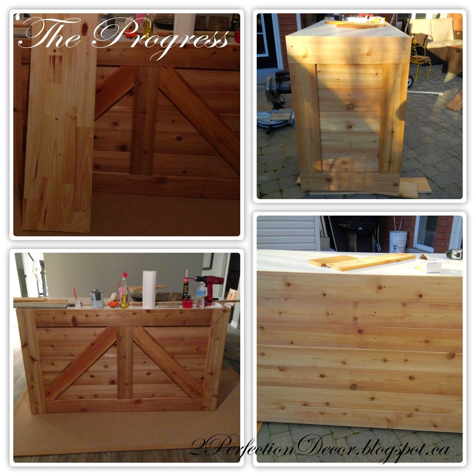 How To Repurpose A Cabinet Into A Rustic Wooden Bar By 2Perfection Decor  Blog Featured On