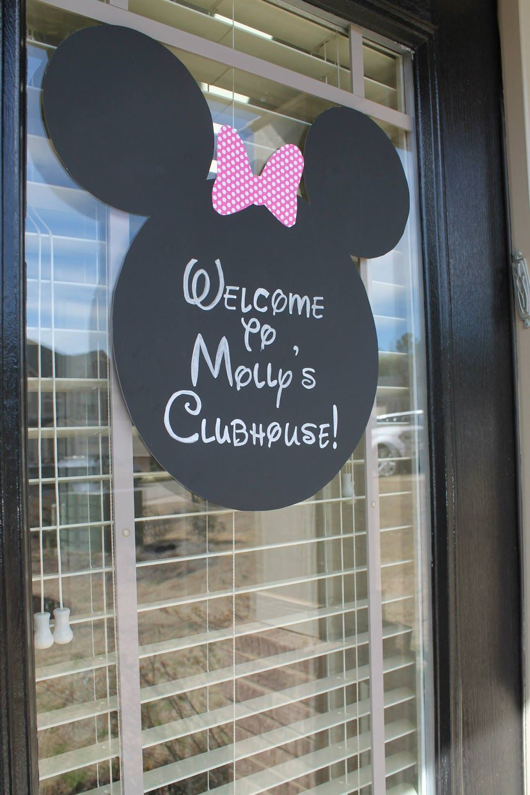 Minnie Mouse Birthday Party Diy Welcome Sign