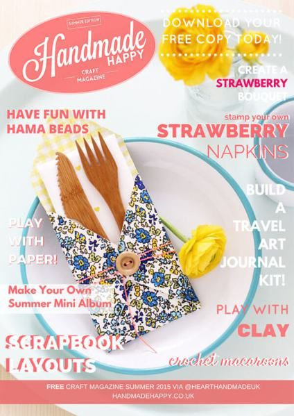 Handmade Happy 2015 Cover - click through for free magazine download
