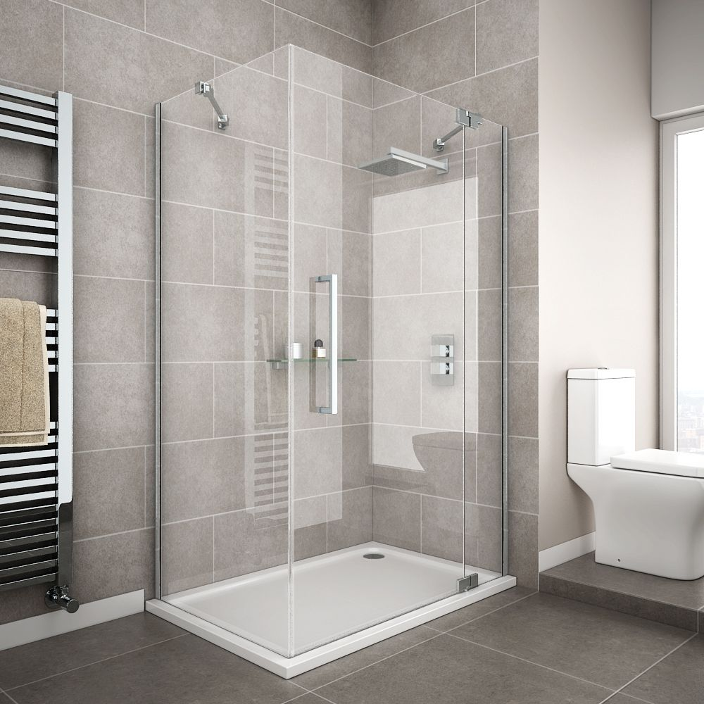 Apollo Frameless Hinged Door Rectangular Enclosure R H Opening Rectangular Shower Enclosures Bathroom Shower Design Shower Enclosure