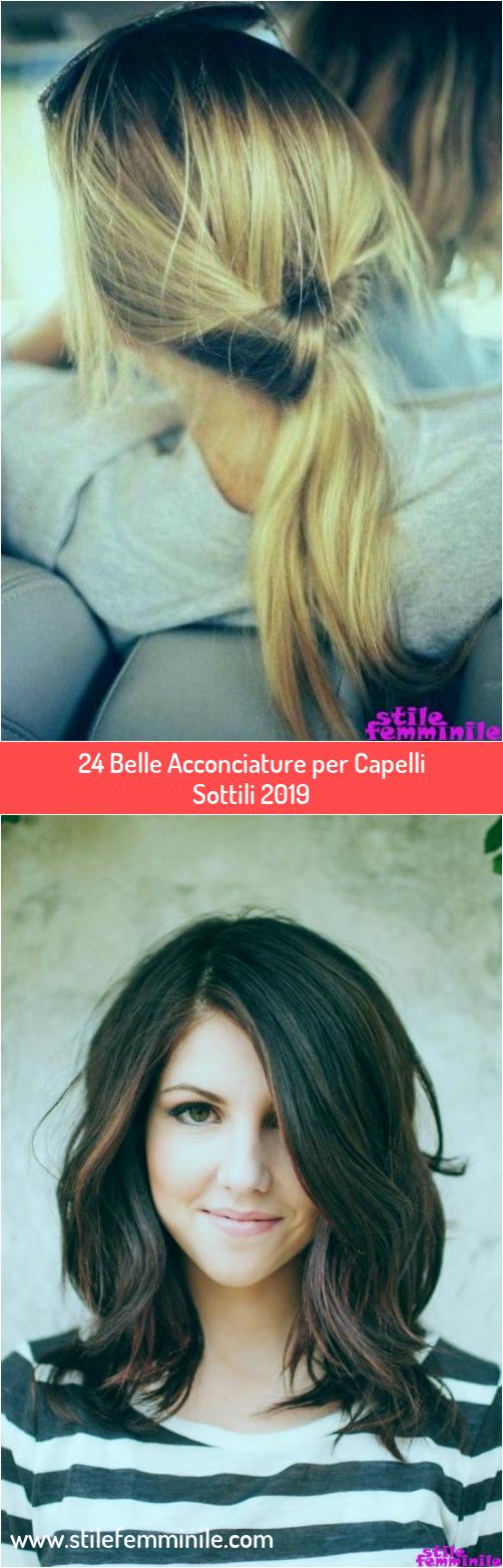 Photo of 24 belle acconciature per capelli sottili 2019
